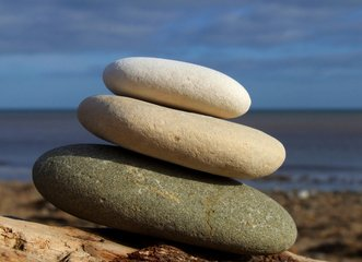 Rocks on Sand
